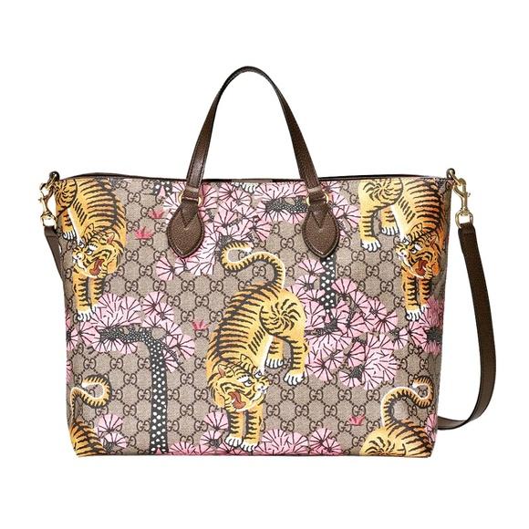 685b0a099b4 New Gucci GG Supreme Canvas Bengal Tote